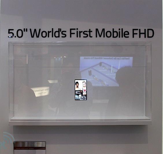 LG, Οθόνη αφής 5 ιντσών Full HD με 440 ppi