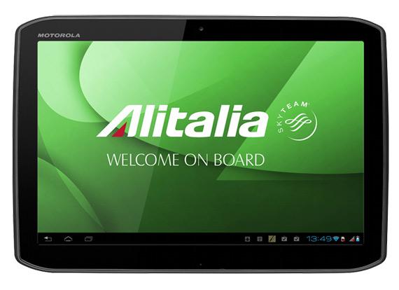 Motorola Xoom 2, Θα συνοδεύει πτήσεις της Alitalia