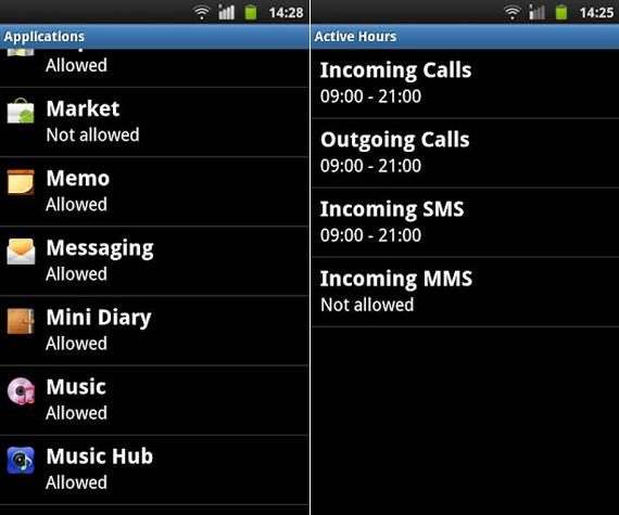Vodafone Safety Net, Εφαρμογή γονικού ελέγχου για Android κινητά