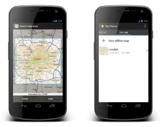 Google Maps for Android, Επίσημη έναρξη της διάθεσης του update με offline λειτουργία