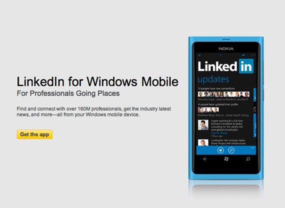 LinkedIn εφαρμογή για Windows Phone κινητά