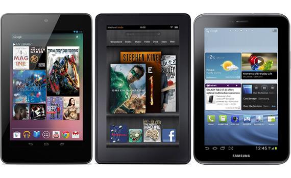 Google Nexus 7 vs. Amazon Kindle Fire vs. Samsung Galaxy Tab 2 7.0