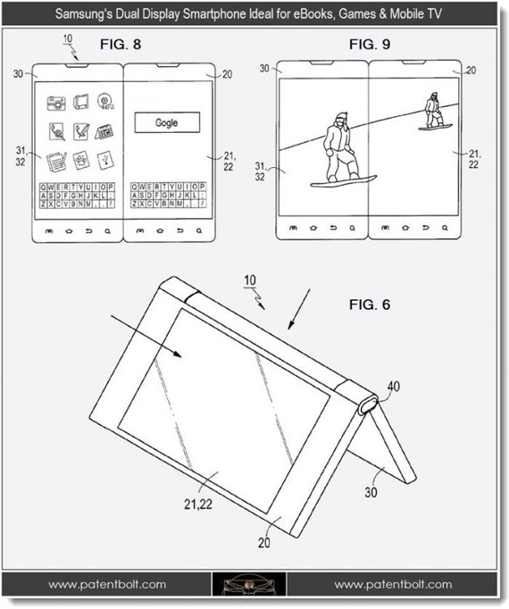Samsung, Κατέθεσε πατέντα για smartphone με διπλή οθόνη