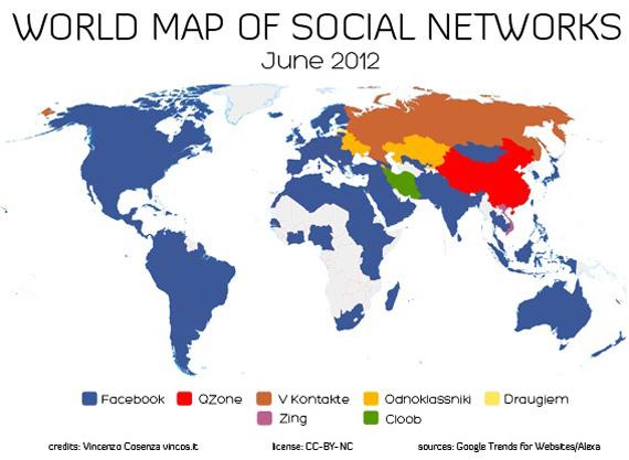 Facebook, Ο χάρτης της ψηφιακής χώρας που ορίζει το πιο δημοφιλές social network