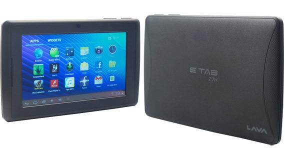 Lava E-Tab Z7H,  Android tablet με οθόνη 7 ίντσες και 80 ευρώ [Ινδία]