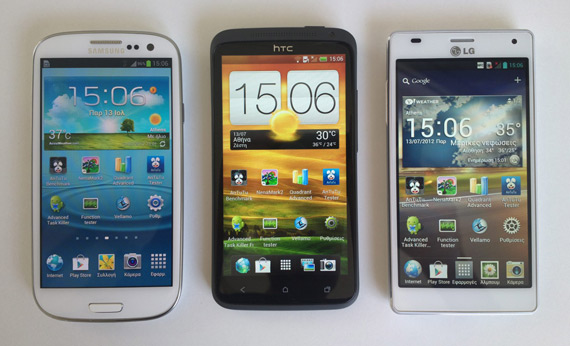 Μεγάλη κόντρα: Super Amoled (S III) vs. S-LCD 2 (One X) vs. LCD IPS (4X HD)