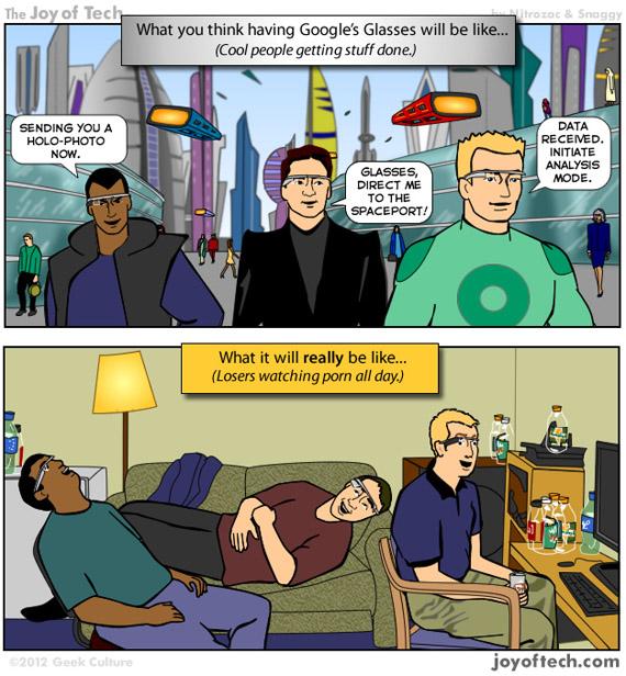 Google Glass Project, Πώς θα τα χρησιμοποιούμε πραγματικά [funny]