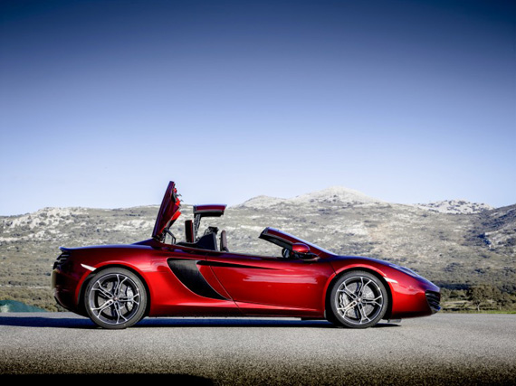 McLaren 12C Spider, Ονειρευτείτε με την οροφή ανοιχτή
