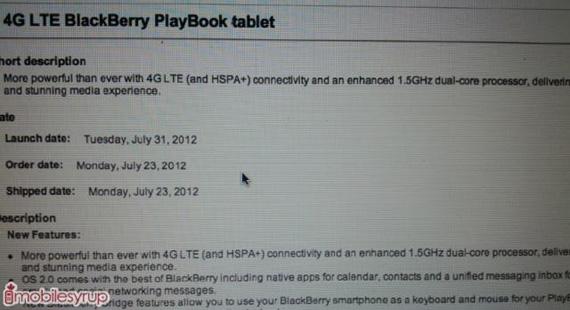BlackBerry PlayΒook με συνδεσιμότητα 4G και επεξεργαστή 1.5 GHz στις 31 Ιουλίου;