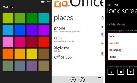 Windows Phone 8, Νέα screenshots που παρουσιάζουν σημαντικά χαρακτηριστικά