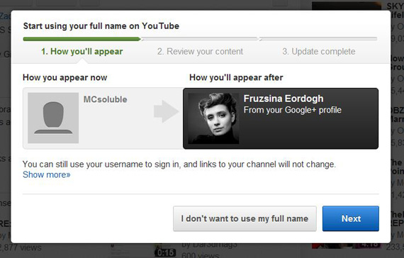 YouTube, Η ανωνυμία λαμβάνει τέλος εάν το επιθυμείς...