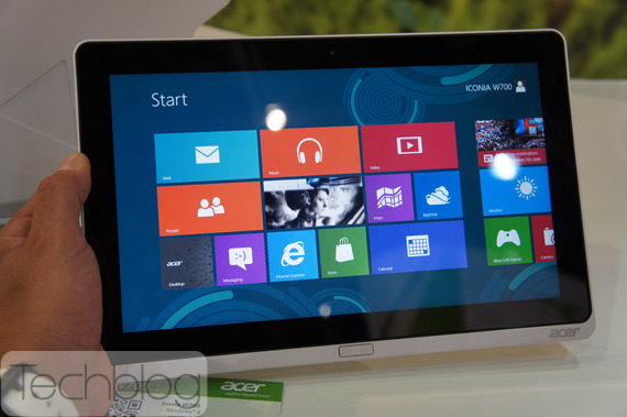 Acer Iconia W700 Windows 8 tablet πρώτη επαφή hands-on [IFA 2012]