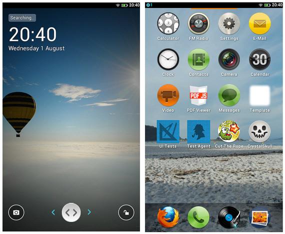 Firefox OS, Πρώτες οθονιές από το νέο λειτουργικό σύστημα για mobile συσκευές