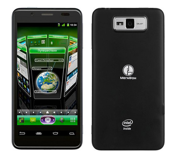 MegaFon Mint, Με τον επεξεργαστή Intel Medfield και λειτουργικό σύστημα Android