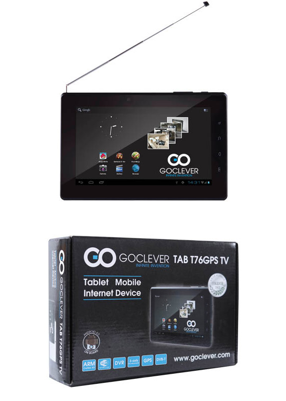GO CLEVER TAB T76, Android tablet με GPS και ψηφιακό δέκτη MPEG-4