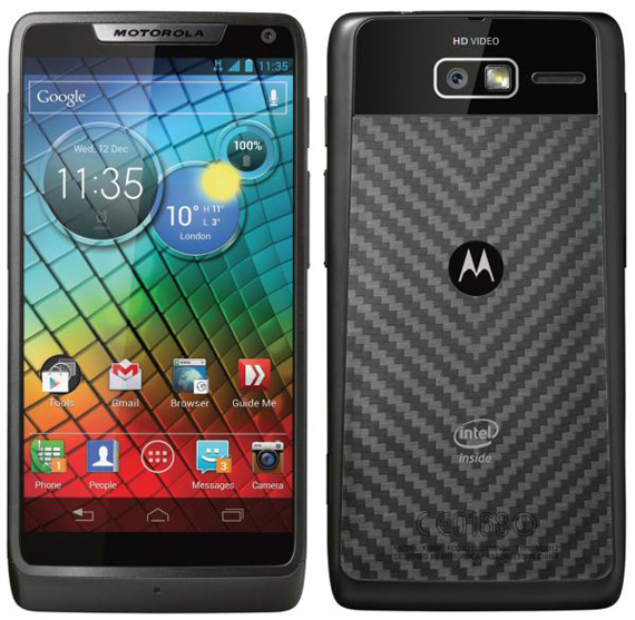 Motorola RAZRi, Το πρώτο με επεξεργαστή Intel Atom στα 2 GHz