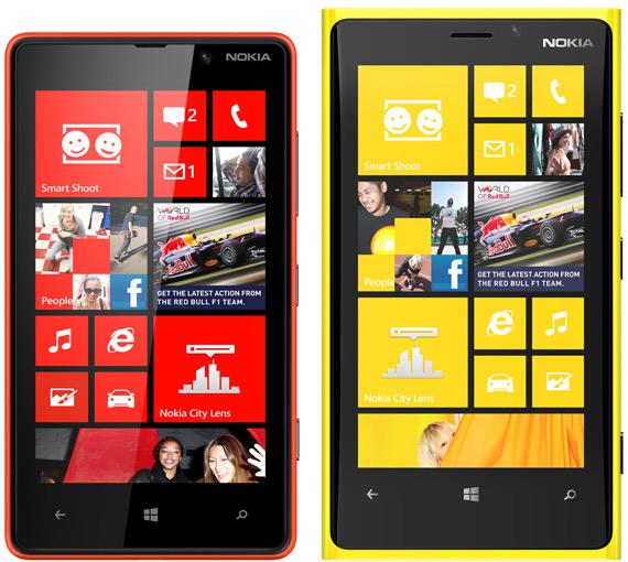 Nokia Lumia 920 και Lumia 820