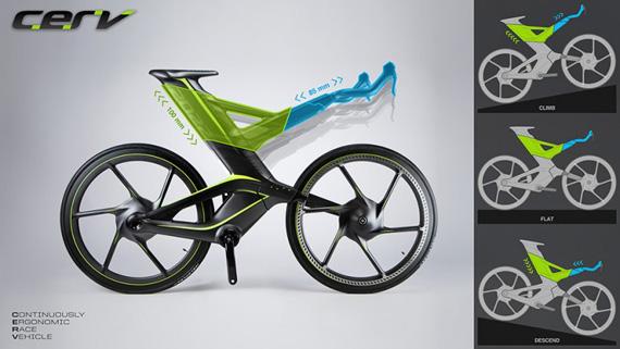 Cannondale CERV concept bike, Προσαρμόζεται στις συνθήκες κίνησης