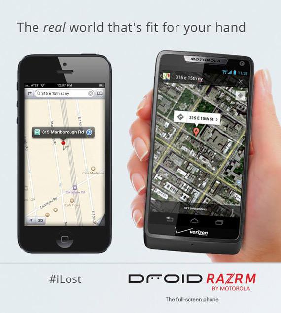 iLost, Σειρά της Motorola να τα βάλει με το iPhone