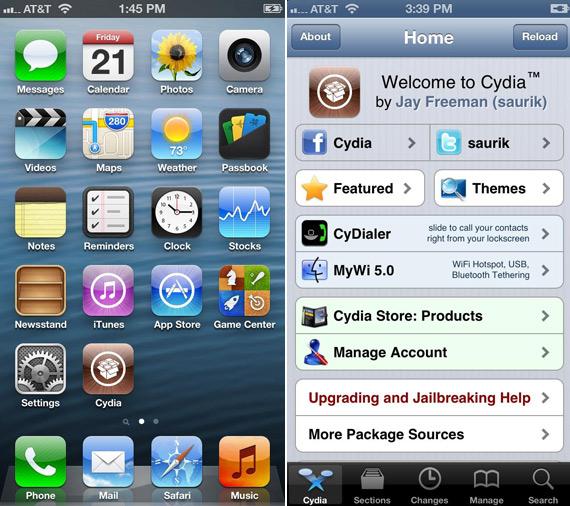 iPhone 5 Cydia jailbreak