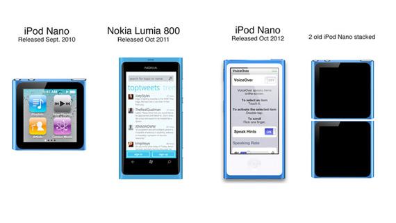 Nokia Lumia 800 vs iPod Nano, Ετοιμαστείτε για νέες δίκες [funny]