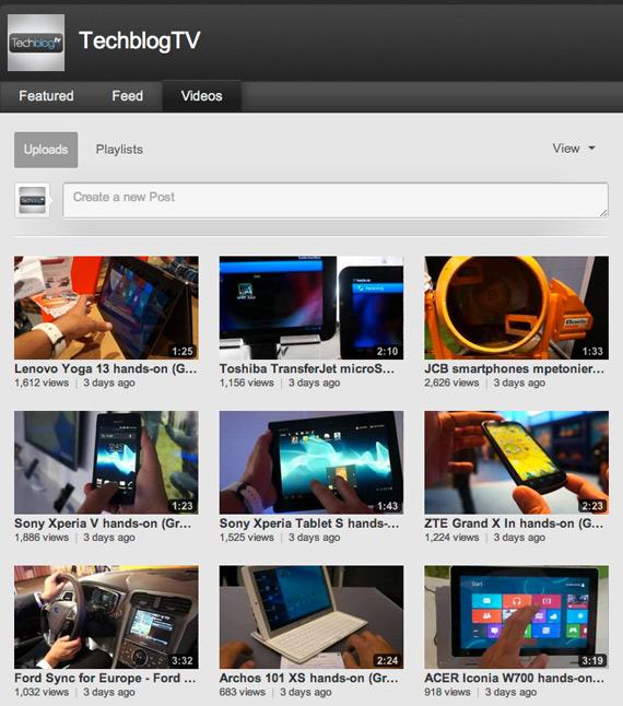 TechblogTV, Το μεγαλύτερο ελληνικό κανάλι με βίντεο τεχνολογίας