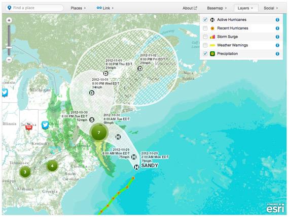 Παρακολουθήστε live την εξέλιξη του τυφώνα Sandy