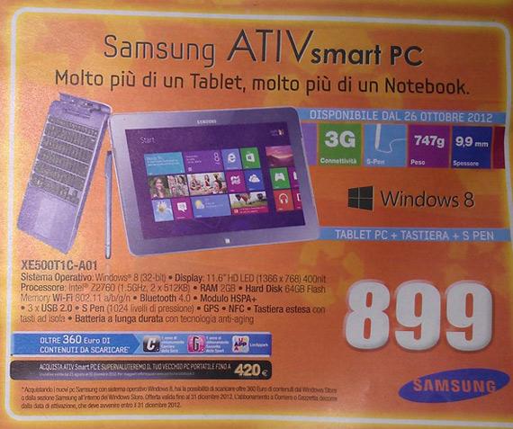 Windows 8 tablets, Ενδεικτικές τιμές για κάποια πρώτα μοντέλα