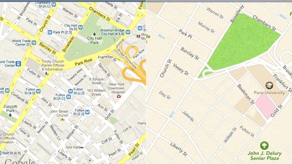 Apple Maps, Καταναλώνουν 80% λιγότερα δεδομένα σε σχέση με τους Google Maps στο iOS