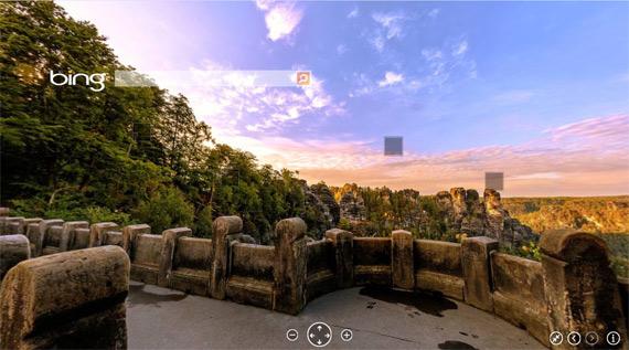 Bing με πανόραμα + screen capture