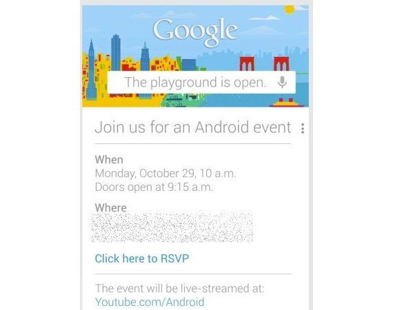 Google Android event, 29 Οκτωβρίου θα ανακοινώσει τη νέα γενιά Nexus