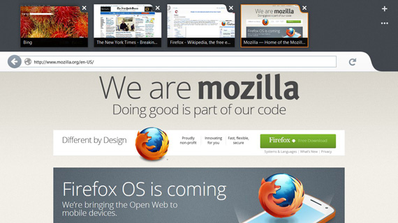 Firefox Metro Preview, Εμφανίζεται σε πρώιμη beta μορφή εν αναμονή των Windows 8
