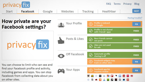 PrivacyFix, Δείτε ποιοι σας παρακολουθούν στο Web και διορθώστε το