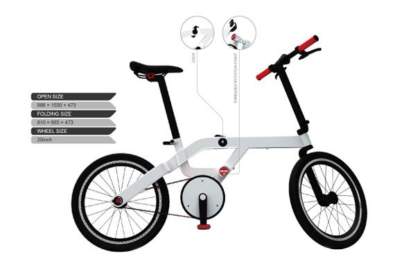 SPACE Concept Urban Bicycle, Το ποδήλατο που διπλώνει με ένα άγγιγμα