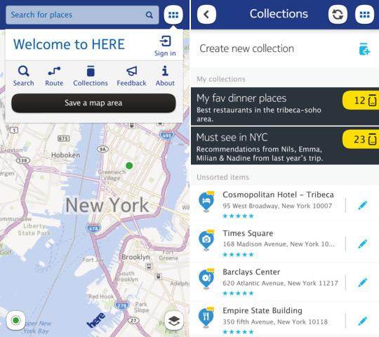 Nokia Here, Χάρτες και πλοήγηση για το iPhone, το iPad και το iPod Touch