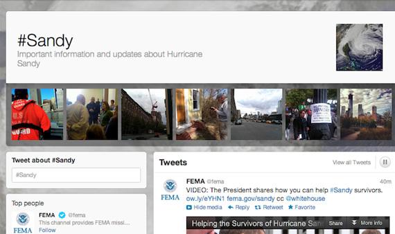 Twitter, Τα στατιστικά για τον τυφώνα Sandy