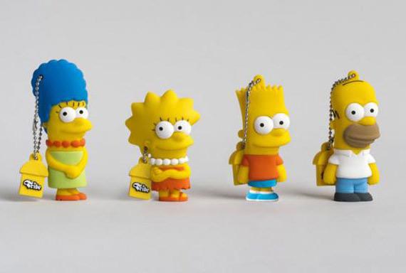 Η οικογένεια Simpsons σε USB sticks