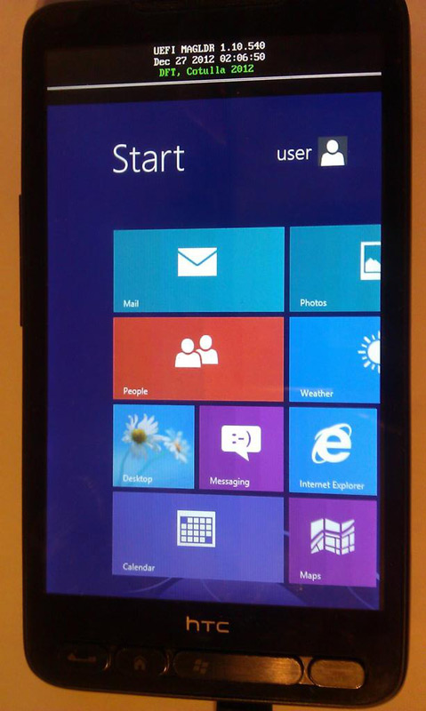 HTC HD2, Ο γερόλυκος τρέχει Windows 8 RT
