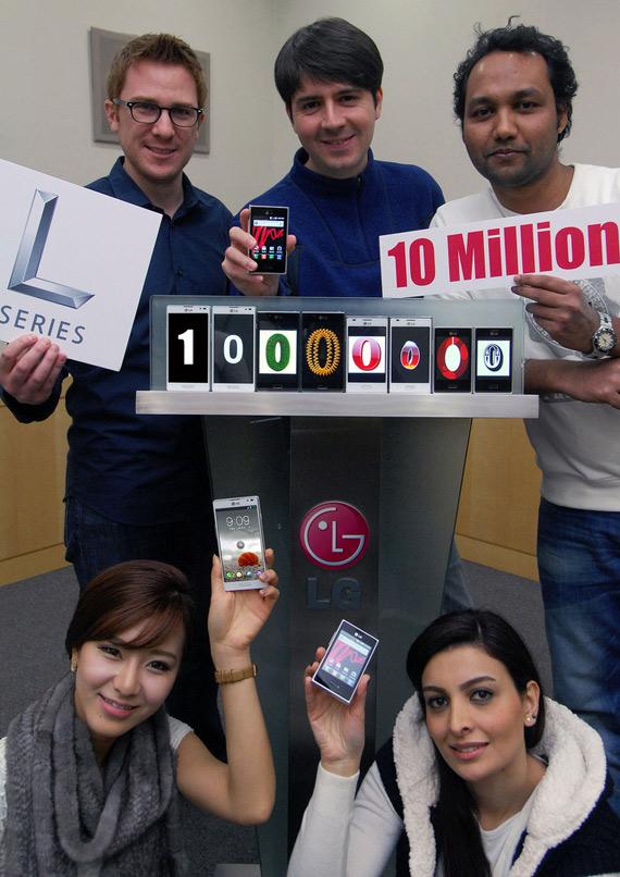 LG Optimus L-series, Ξεπέρασε τα 10 εκ. τεμάχια σε πωλήσεις