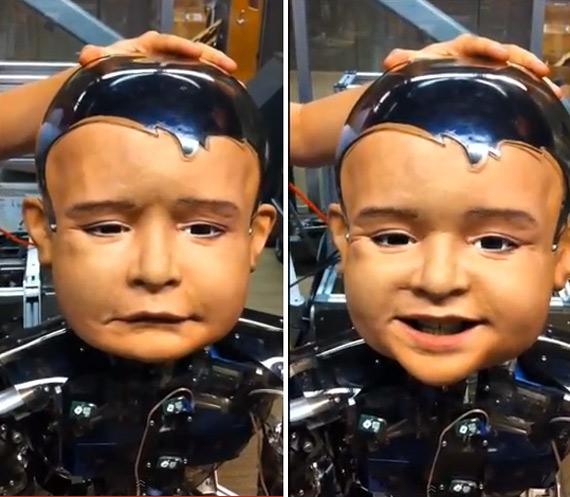 Ανδροειδές ρομπότ μιμείται τους μορφασμούς μικρού παιδιού