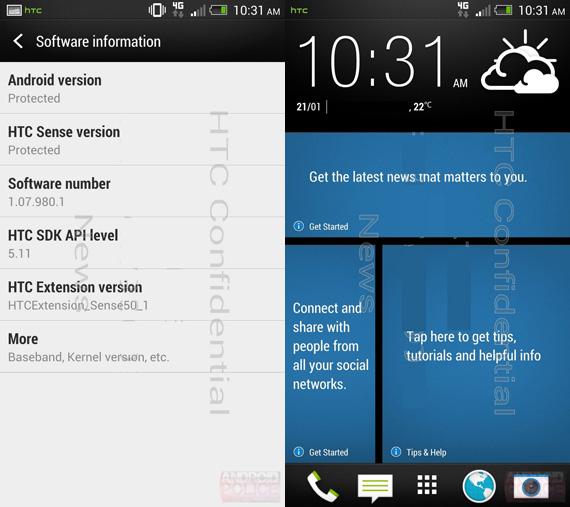 HTC M7 HTC Sense 5.0