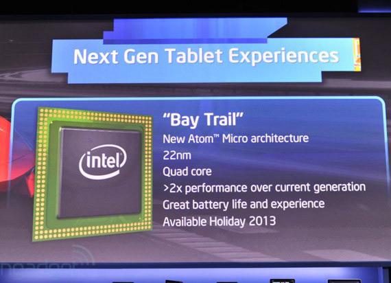 Intel Bay Trail, Για τα τετραπύρηνα Windows 8 tablets επόμενης γενιάς