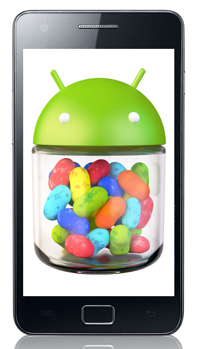 Samsung Galaxy S II με Android 4.1 Jelly Bean