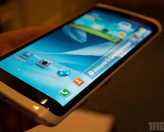 Samsung flexible OLED phone prototype