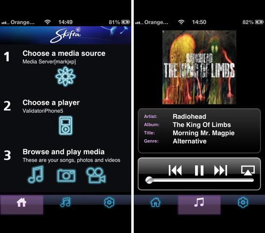 Skifta, Εφαρμογή για να έχετε DLNA στις iOS συσκευές σας