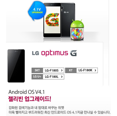 LG Optimus G, Αναβαθμίστηκε σε Android 4.1 Jelly Bean [Κορέα]