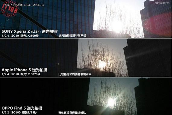 Sony Xperia Z vs iPhone 5 vs OPPO Find 5 photo samples