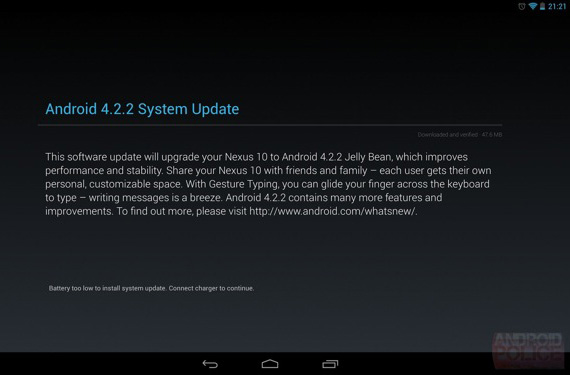 Android 4.2.2 update nexus