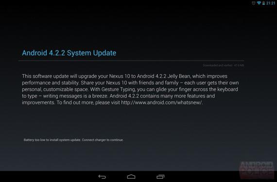 Android 4.2.2 update nexus