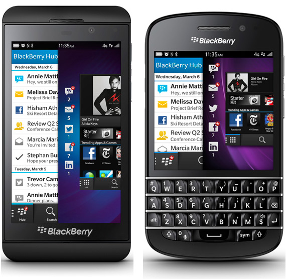 BlackBerry 10 smartphones